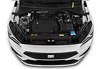 Car Stock 2020 Seat Tarraco FR 5 Door SUV Engine  high angle detail view