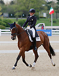 April 23, 2021: #64 Deniro Z and rider Elisabeth Halliday-Sharp from the USA in the 5* Dressage  at the Land Rover Three Day Event at the Kentucky Horse Park in Lexington, KY on April 23, 2021.  Candice Chavez/ESW/CSM
