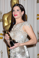 Sandra Bullock, Winner, Best Actress.in the Press Room of the 82nd Academy Awards.Kodak Theater.Los Angeles, CA.March 7, 2010.©2010 Kathy Hutchins / Hutchins Photo....