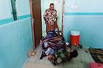 21/07/14  Iraq -- Daquq, Iraq -- Peshmerga joke with each other at the base in Daquq.