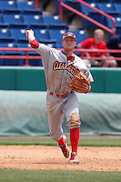 Clearwater Threshers third baseman Cody Asche #3 during a game against the Brevard County Manatees at Space Coast Stadium on April 30, 2012 in Viera, Florida.  Clearwater defeated Brevard County 5-1.  (Mike Janes/Four Seam Images)
