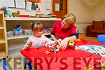 Sheila Conway with little Brooke Fitzgerald enjoying play school activities in the Shanakill Family Resource Centre