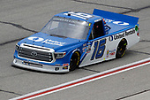 HAMPTON, GEORGIA - JUNE 06: Austin Hill, driver of the #16 United Rentals Toyota, races during the NASCAR Gander Outdoors Truck Series Vet Tix Camping World 200 at Atlanta Motor Speedway on June 06, 2020 in Hampton, Georgia. (Photo by Chris Graythen/Getty Images)