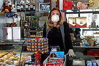 Reopening of bars<br /> Rome May 4th 2020. Covid-19, Italy enters the phase two of the coronavirus emergency. Photo Samantha Zucchi Insidefoto