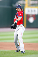 July 22, 2009:  Shortstop Gil Velazquez of the Pawtucket Red Sox during a game at Frontier Field in Rochester, NY.  Pawtucket is the Triple-A International League affiliate of the Boston Red Sox.  Photo By Mike Janes/Four Seam Images