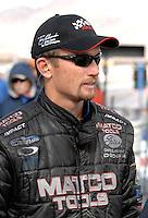 Jan 21, 2007; Las Vegas, NV, USA; NHRA Top Fuel Dragster driver Jack Beckman during preseason testing at The Strip at Las Vegas Motor Speedway in Las Vegas, NV. Mandatory Credit: Mark J. Rebilas