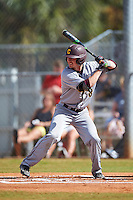 Central Michigan Chippewas shortstop Zach McKinstry (8) at bat during a game against the Boston College Eagles on March 8, 2016 at North Charlotte Regional Park in Port Charlotte, Florida.  Boston College defeated Central Michigan 9-3.  (Mike Janes/Four Seam Images)