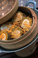 """Thailande/Ile de Ko-Samui:: Citrouille confite cuite à la vapeur dans le fruit - recette de l'Hotel """"The Imperial House"""""""