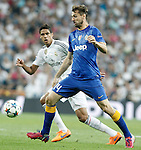 Real Madrid's Raphael Varane (l) and Juventus' Fernando LLorente during Champions League 2014/2015 Semi-finals 2nd leg match.May 13,2015. (ALTERPHOTOS/Acero)