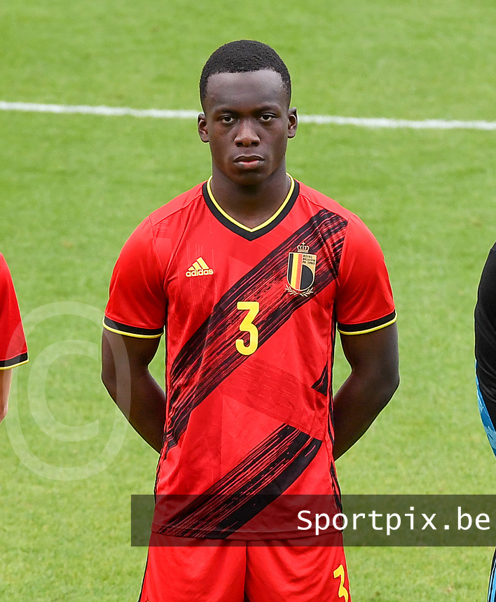 Ibrahim Digberekou (3) of Belgium pictured in action during a soccer game between the national teams Under17 Youth teams of  Norway and Belgium on day 3 in the Qualifying round in group 3 on Tuesday 12 th of October 2020  in Tubize , Belgium . PHOTO SPORTPIX | DAVID CATRY