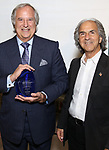 Stewart F. Lane and executive director Howard Teich attends the Manhattan Jewish Hall Of Fame at General Society of Mechanics & Tradesmen of the City of New York on May 14, 2018 in New York City.