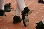 Feet in hard shoe Irish dance shoes; St. Patrick's Day