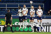 26th October 2020, Turf Moor, Burnley UK; EPL Premier League football, Burnley v Tottenham Hotspur; Tottenham Hotspur wall during the free kick from Burnley