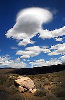 Lenticular clouds near Mono Lake