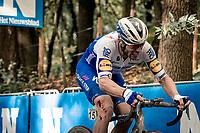 Florian Sénéchal (FRA/Deceuninck - QuickStep) up the Kemmelberg<br /> <br /> 82nd Gent-Wevelgem in Flanders Fields 2020 (1.UWT)<br /> 1 day race from Ieper to Wevelgem (232km)<br /> <br /> ©kramon