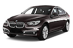 2015 BMW 5 Series 535I Luxury 5 Door Hatchback 2WD Angular Front stock photos of front three quarter view