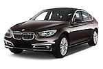2015 BMW 5 Series 535I Luxury 5 Door Hatchback 2WD Angular Front stock photos of front three quarter view