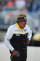 Jul, 8, 2011; Joliet, IL, USA: NHRA official starter Rick Stewart during qualifying for the Route 66 Nationals at Route 66 Raceway. Mandatory Credit: Mark J. Rebilas-