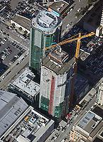aerial photograph high rise  construction San Francisco, California