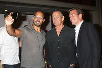 "LOS ANGELES - AUG 15:  Terrell Tilford, Peter Bergman, Eric Braeden at the ""The Young and The Restless"" Fan Club Event at the Universal Sheraton Hotel on August 15, 2015 in Universal City, CA"