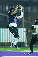 Jared Tubb (10) of Fayetteville catches ball for touchdown against Little Rock Central during 1st quarter at Harmon Stadium, Fayetteville, Arkansas on Friday, November 13, 2020 / Special to NWA Democrat-Gazette/ David Beach