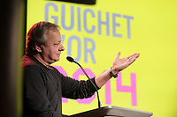 Montreal, CANADA, March 4, 2015. Christian Larouche attend<br /> the presentation of the 2014 Guichet d'Or Award to Xavier Dolan for his succes of MOMMY ; t he Canadian French-language feature film with the highest-grossing domestic box-office sales in 2014.<br /> <br /> The Guichet d'Or comes with a total $40,000 cash prize to the writer ($20,000) and the director ($20,000) of the film.