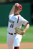 Boston College Eagles pitcher Hunter Gordon #26 during a game versus the Miami Hurricanes at Shea Field in Chestnut Hill, Massachusetts on April 26, 2013.  (Ken Babbitt/Four Seam Images)