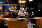 NY1 anchor Pat Kiernan poses for a portrait on set on April 20, 2012 in New York City.  (Photo by Michael Nagle)
