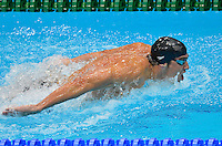 July 28, 2012: Michael Phelps of USA competes in Men's 400m Individual Medley at the Aquatics Center on day one of 2012 Olympic Games in London, United Kingdom.