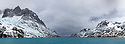 Drygalski Fjord, South Georgia. November. Digitally stitched panoramic image.