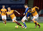 St Johnstone v Motherwell…21.11.20   McDiarmid Park      SPFL<br />Scott Tanser battles with Stephen O'Donnell<br />Picture by Graeme Hart.<br />Copyright Perthshire Picture Agency<br />Tel: 01738 623350  Mobile: 07990 594431