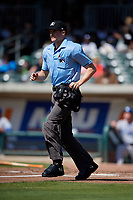 Umpire Nolan Earley during a South Atlantic League game between the Lexington Legends and Augusta GreenJackets on April 30, 2019 at SRP Park in Augusta, Georgia.  Augusta defeated Lexington 5-1.  (Mike Janes/Four Seam Images)