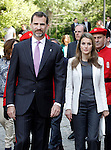 Princes Felipe and Letizia of Spain attend the tribute to the King of Navarre .June 06,2013. (ALTERPHOTOS/Acero)