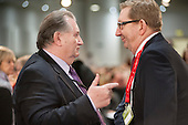 Paul Kenny GMB and Len McCluskey, Unite.  Labour Party Special Conference on reform of its links to trade unions, ExCel Centre, London.