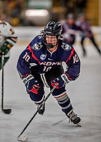9 February 2018: University of Connecticut Huskie Forward Lindsay Roethke, a Senior from Buffalo, MN, in first period action against the University of Vermont Catamounts at Gutterson Fieldhouse in Burlington, Vermont. The Lady Cats defeated the Huskies 1-0 the first game of their weekend Hockey East series. Mandatory Credit: Ed Wolfstein Photo *** RAW (NEF) Image File Available ***