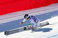 Daniela Merighetti prima all'arrivo.14/01/2012  Pista Olympia delle Tofane, Cortina.Sci Coppa del Mondo Donne Discesa Libera.Foto Insidefoto / EXPA/ Johann Groder