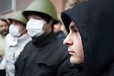 Pro EU Demonstrationen in Kiew, vor der besetzten City Hall, Stimmung in Kiew nach Tagen der Proteste 05.12.2013 /  Pro European demonstrations in Kiev