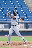 AZL Padres 2 shortstop Olivier Basabe (4) at bat against the AZL Brewers on September 2, 2017 at Maryvale Baseball Park in Phoenix, Arizona. AZL Brewers defeated the AZL Padres 2 2-0. (Zachary Lucy/Four Seam Images)