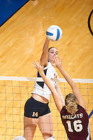 SAN ANTONIO, TX - NOVEMBER 9, 2006: The Texas State University Bobcats vs. The University of Texas at San Antonio Roadrunners Volleyball at the UTSA Convocation Center. (Photo by Jeff Huehn)