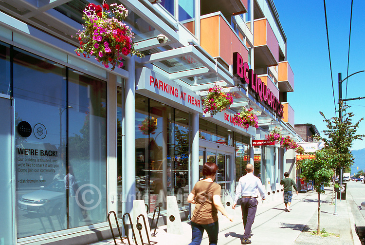 Vancouver, BC, British Columbia, Canada - Main Street Scene, Shops in Riley Park - Little Mountain Neighbourhood