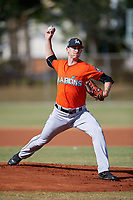 Miami Marlins pitcher Joe Gunkel (28) during a Minor League Spring Training Intrasquad game on March 27, 2018 at the Roger Dean Stadium Complex in Jupiter, Florida.  (Mike Janes/Four Seam Images)