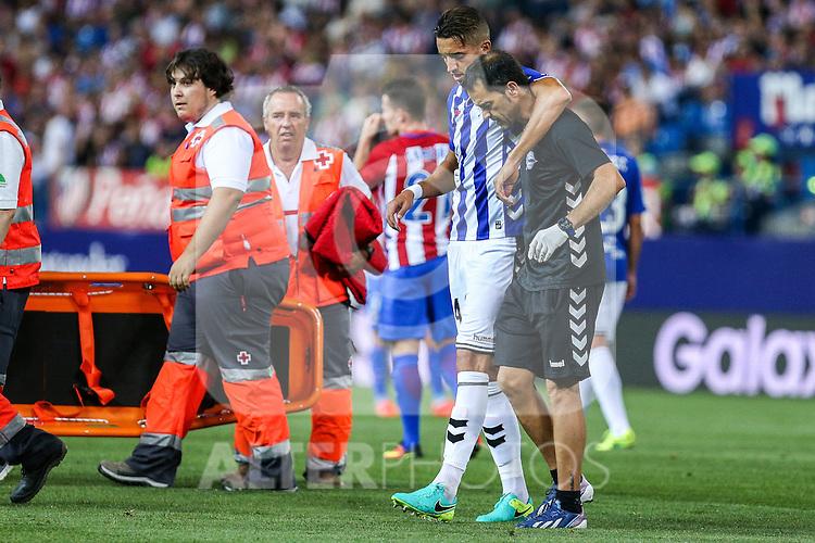 Deportivo Alaves's Feddal during the match of La Liga Santander between Atletico de Madrid and Deportivo Alaves at Vicente Calderon Stadium. August 21, 2016. (ALTERPHOTOS/Rodrigo Jimenez)