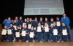 St Johnstone FC Youth Academy Presentation Night at Perth Concert Hall..21.04.14<br /> St Johnstone U13 team with sponsor and coaches<br /> Picture by Graeme Hart.<br /> Copyright Perthshire Picture Agency<br /> Tel: 01738 623350  Mobile: 07990 594431