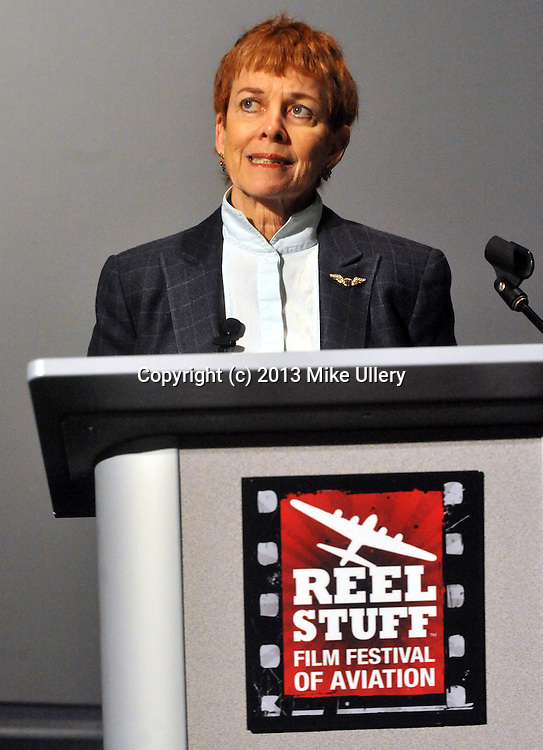 """First annual Reel Stuff Film Festival of Aviation, day two, at the National Museum of the United States Air Force...Films included Air Racers 3D, presented by Producer/Director/Writer Christian Fry; Memphis Belle, the 1944 Documentary, presented by Catherine Wyler, the daughter of the film's director William Wyler; Memphis Belle (1990), presented by Producer Catherine Wyler; and Top Gun 3D, presented by Barry Sandrew,PhD, founder of Legend 3D and actor Anthony Edwards, who played """"Goose"""" in the film."""