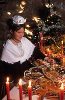 """Europe/France/Provence-Alpes-Côte d'Azur/13/Bouches-du-Rhône/Orgon : Souper de Noël - La table des treize dessert au restaurant """"Côté Jardin"""" [Autorisation : 28]"""