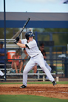 New York Yankees first baseman Eric Wagaman (20) at bat during an Instructional League game against the Baltimore Orioles on September 23, 2017 at the Yankees Minor League Complex in Tampa, Florida.  (Mike Janes/Four Seam Images)