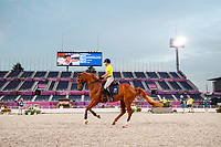AUS-Andrew Hoy and Vassily de Lassos. The Australian Equestrian Team - Eventing, do their evening familiarisations prior to competition at the Equestrian Park. Tokyo 2020 Olympic Games. Monday 26 July 2021. Copyright Photo: Libby Law Photography