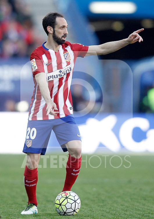 Atletico de Madrid's Juanfran Torres during La Liga match. April 17,2016. (ALTERPHOTOS/Acero)