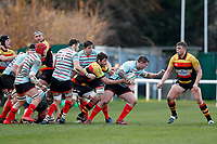 Tom Williams of Blackheath Rugby in action during the English National League match between Richmond and Blackheath  at Richmond Athletic Ground, Richmond, United Kingdom on 4 January 2020. Photo by Carlton Myrie.