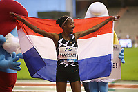 5th September 2020, Brussels, Netherlands;  The Netherlands Sifan Hassan celebrates after the One Hour Women at the Diamond League Memorial Van Damme athletics event at the King Baudouin stadium in Brussels